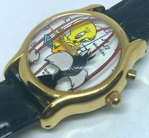 Vintage Armitron Lady Tweety Bird  Analog Quartz Musical Watch Hours~New Battery