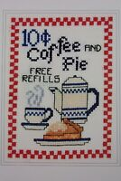 Design Connection Cross-stitch Kit Coffee & Pie Huck Towel K7-880 Country Chic