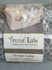 New Trend Lab Diaper Storage Caddy Organizer White/Gray Circles