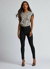 Dorothy Perkins Womens Petite Black Lyla High Waisted Skinny Denim Jeans