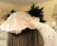 Medieval Ecru/Black Deluxe-Mens Finest Renaissance Costume Hat-Adorned Blk/White