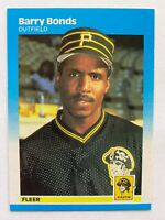 1987 Fleer BARRY BONDS RC #604, Pirates RC Rookie GOAT!       QTY. Available