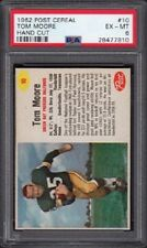 1962 Tom Moore Post Cereal Football Card #10 SP Graded PSA 6 Excellent-Mint