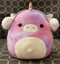 """NWT Squishmallow 8"""" Tie Dye Unicorn Lola Christmas 2019 NEW Plush Kellytoy"""