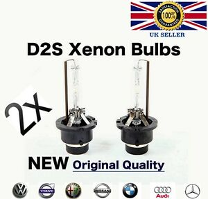 2X D2S Xenon Bulbs Replacement Phillips Headlight Lamps OEM HID 35W 4300K 6000K