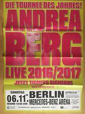 ANDREA BERG  2016 BERLIN  - orig. Concert Poster - Konzert Plakat  A1  F/N