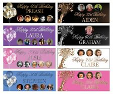 Personalised Birthday Banner Party Decorations 18th/21st/30th/50th/60th/70th/80
