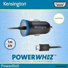 Kensington 2.6 Amp / 13w Rapid Micro-USB Charging Cable Cigarette Car Charger