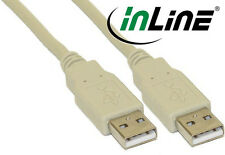 InLine USB 2.0 cable, A Plug in a plug , beige, 78 11/16in / 6 7/12ft