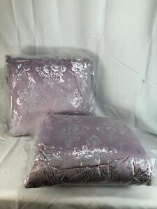 Casa Zeta-Jones Set of 2 Metallic Damask Micro Suede Pillows