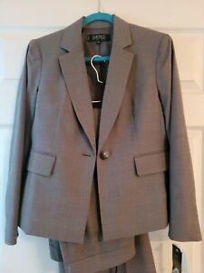 Kasper 8 Petite Pant Suit Gray Blazer Pants Lined NEW $320 Free shipping 8P