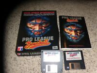 "Pro League Baseball Game PC IBM 3.5"" disks with box and manual"