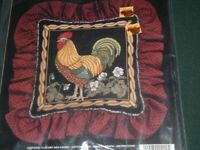 Vtg 1991 Janlynn Heritage Museum Counted Cross Stitch Kit Eleghant Rooster #Lk