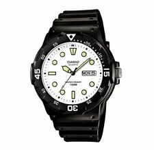 MRW-200H-7E Casio Men's black Rubber Strap Day Date 100M Analog Sports Watch