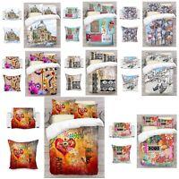 UK Made 3D Digital Love Art Photo Print Duvet Quilt Cover or Blanket or Cushion