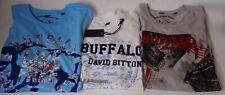 Buffalo David Bitton Graphic T-Shirts Medium Small Lot 3 Shirts 100% Cotton