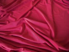 STRETCH JERSEY-RED -DRESS FABRIC-FREE P&P
