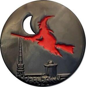 Walpurgis Night Geocoin, Black Nickel, Activated