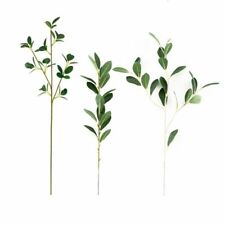 Artificial Rhododendron Leaves Silk Long Stem Plants Home Wedding Jungle Decors