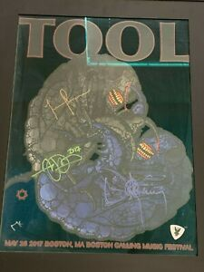 Tool signed autographed poster