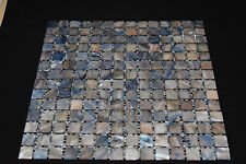 Mother of Pearl Mosaic Tiles Dark Blue Grey 20x20 305*305mm / sheet MOP20DBG