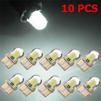 10pc T10 194 168 W5W COB 4 SMD LED CANBUS Silica Bright White License Light Bulb