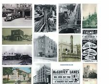 3110) Vntg B&W Photos Youngstown OH City Views Paramount Fire Station Etc Reprnt
