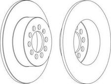 Genuine FERODO PREMIER Rear Axle Brake Discs (Pair) DDF1224C