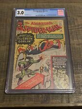 Amazing Spider-Man 14 CGC 3.0 1st Appearance App Of Green Goblin (Sinister Six)