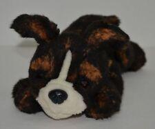 "FAO Schwarz 5th Avenue Black/Brown Boston Terrier Plush Puppy Bean Bag 10"""