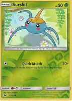 POKEMON SUN & MOON CARD: SURSKIT - 7/149 - REVERSE HOLO