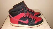 Nike Men's Air Jordan 1 Retro Sneakers - Size 10.5 US, Black and red