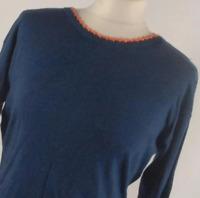 Preworn Blue Cotton Womens Basic Tee Size XL (Regular)