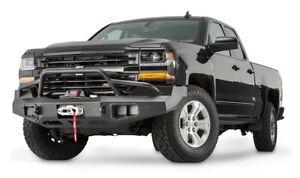 Warn Ascent Front Bumper Textured Black For 16-19 Chevy Silverado 1500 100920