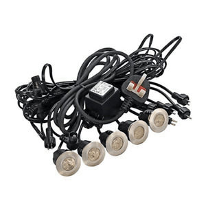 CED 5 Head Deck Lighting Kit With Transformer With Blue Led 15 Lumens Per Head