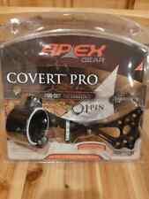 Apex Gear Covert Pro Single-Pin Sight-Green Pwr Dot-Black- AG2301GB