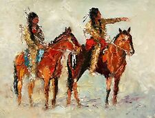 SPECIAL - ANDRE DLUHOS HISTORIC WESTERN SIOUX INDIAN SCOUT LIMITED EDITION PRINT