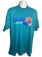Vintage Bahamas Sea Trek Royal Caribbean Nature T Shirt Men's Size XL Blue