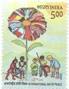INDIA 2005 international Day of Peace Flags Children Flag stamp 1v MNH