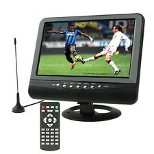 9.5 inch TFT LCD color Portable Analog TV with wide view angle, Support SD/MMC