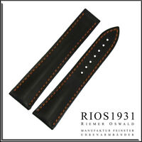 22x18 mm RIOS1931 for Panatime - Black Engineer - OS Leather Watch Band For Omeg