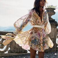 2020 Womens Runway Designer Inspired Luxury High Neck Floral  Dress 2 Pieces