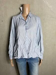 REKEN MAAR - raffinierte  Bluse Tunika blau grau ~ NEU - Gr 36 S 490f