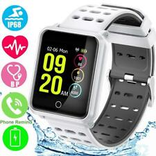 NEW BLUETOOTH SMART WATCH WITH HEART RATE BLOOD PRESSURE MONITOR PEDOMETER