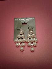 Earrings Pure Expressions Hypo-Allergenic Fish Hook Pearl ~Brand New With Tags~