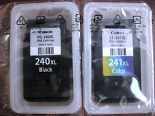 NEW 2 GENUINE CANON INK CARTRIDGE PG-240XL BK BLACK CL-241XL COLOR OEM TANK SET