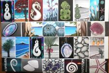 Jandals Tiki Tui Pukeko Maori Paua Koru - 24 Prints of my Paintings by Astrid