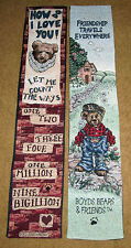 Boyds Bears How Do I Love You & Friendship Travels Reversible Tapestry Bellpull