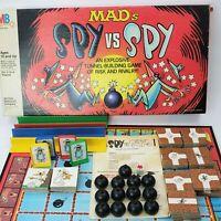 Mad's Spy vs Spy MB Vintage Board Game 1986 Missing One Tunnel Tile