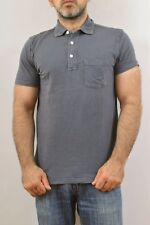 Abercrombie & Fitch Garment Dyed Grey Top polo Shirt Slim Fit Stretch L GOOD
